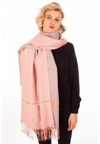 Love Scarf color rosa palo Minueto
